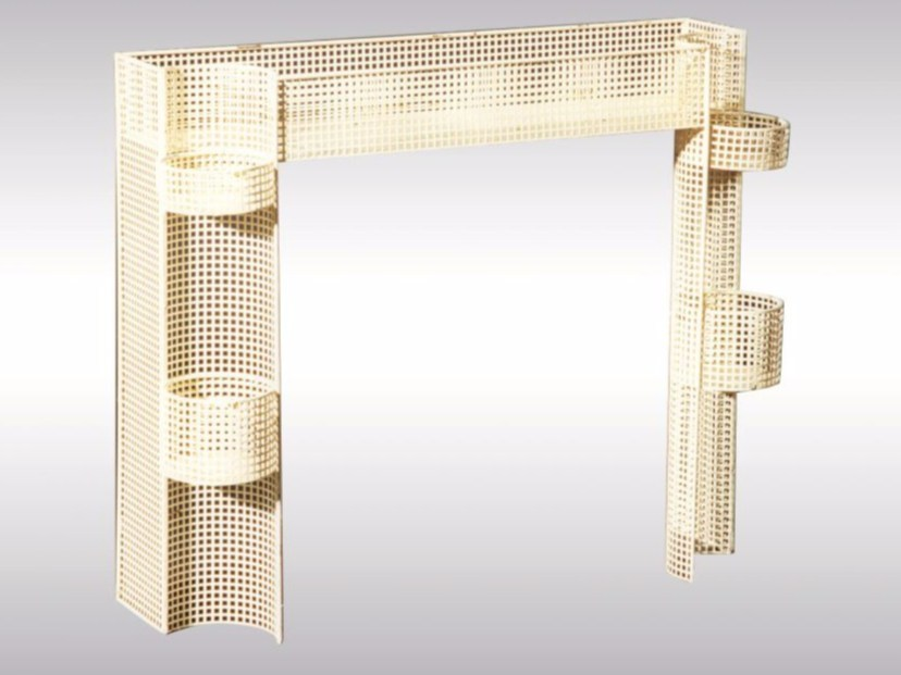 Perforated metal plant pot FLOWERSTAND by Woka Lamps Vienna