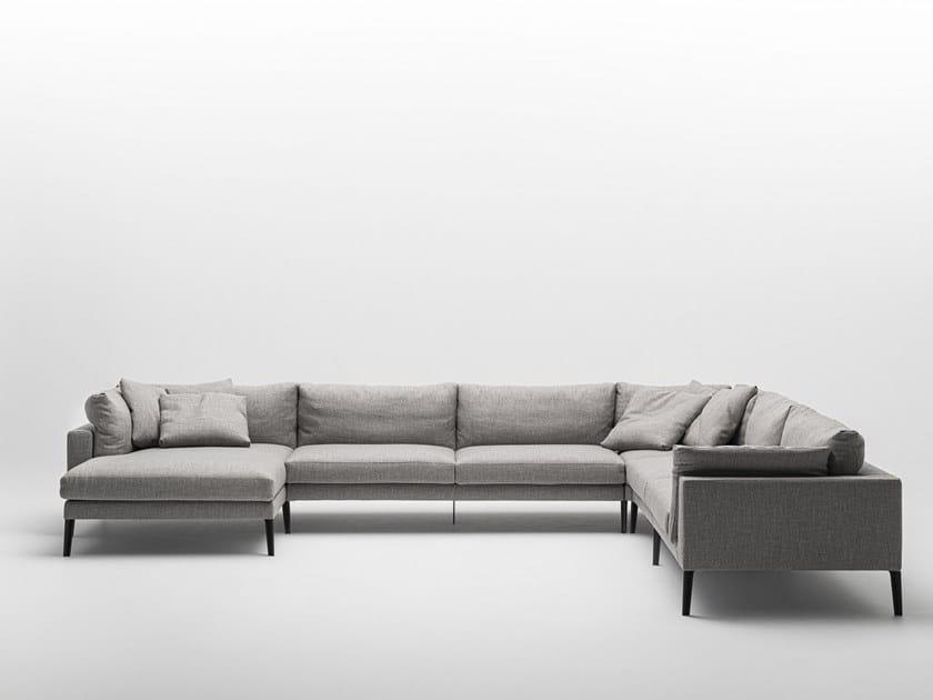Canapé composable en tissu FLOYD-HI 2 SYSTEM by Living Divani