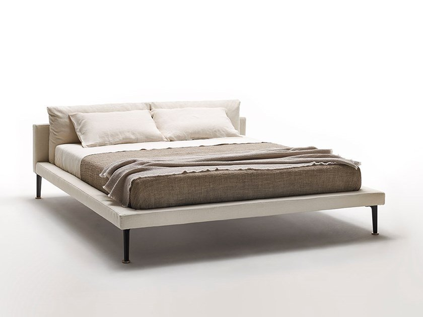 Fabric double bed FLOYD-HI | Bed by Living Divani