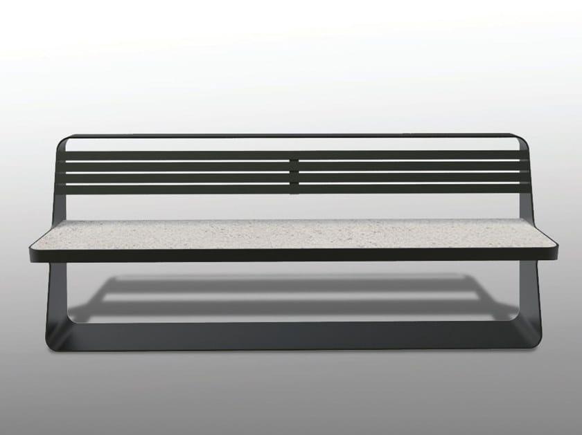 Bench with back FLUENS A by Manufatti Viscio