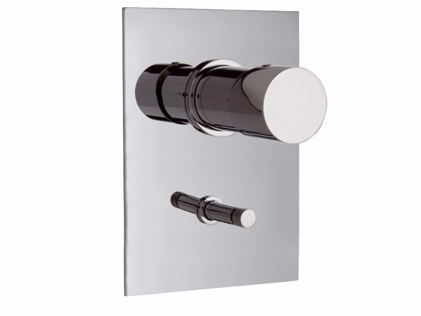Wall-mounted chromed brass remote control tap FLUID F3859X2   Remote control tap by FIMA Carlo Frattini
