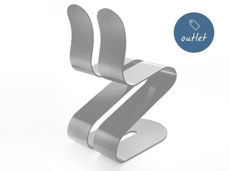 Sedia impilabile in alluminio FLUID RIBBON   Sedia in alluminio by Lamberti Design