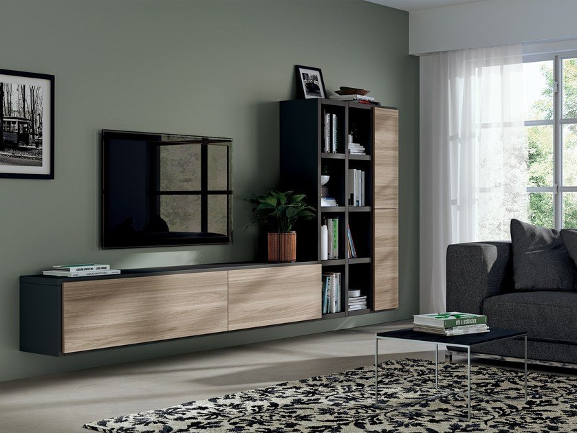 Fluida 365 module indipendent living rooms line by scavolini for Scavolini pareti attrezzate