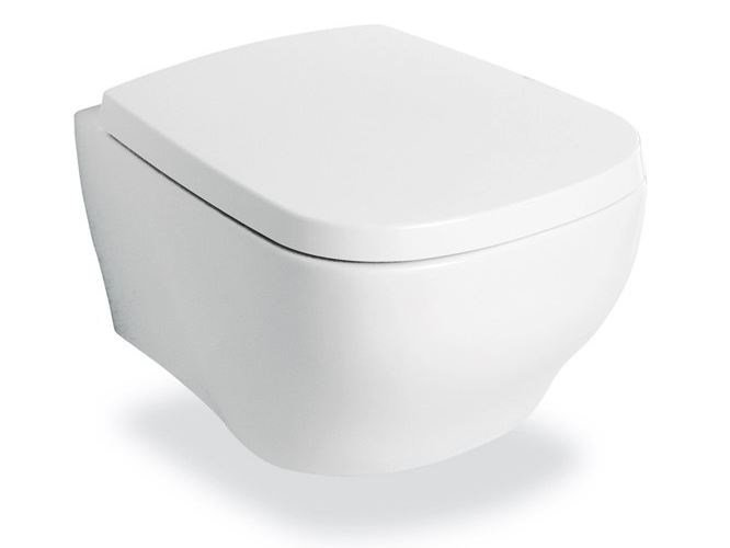 Wall-hung ceramic toilet FLUIDA | Wall-hung toilet by newform