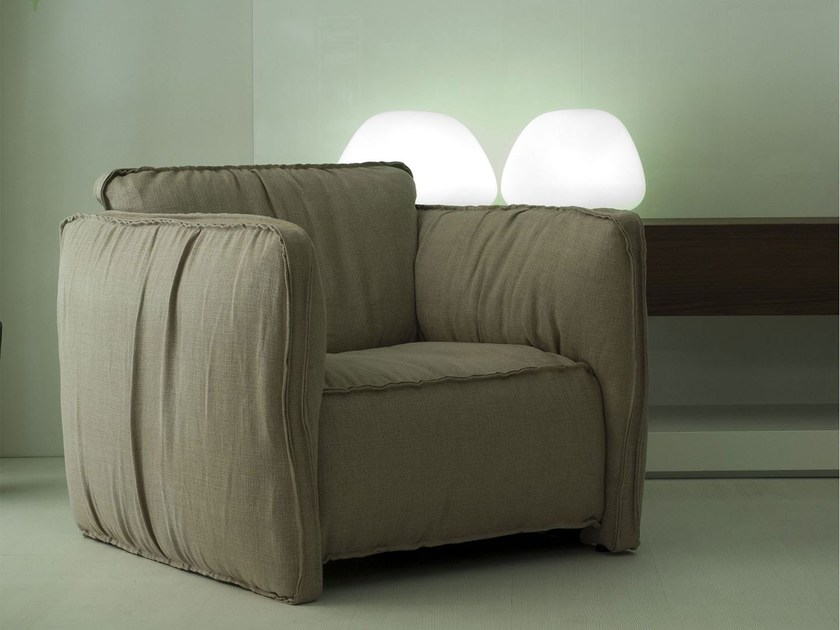 Upholstered fabric armchair FLUON   Armchair by Paolo Castelli