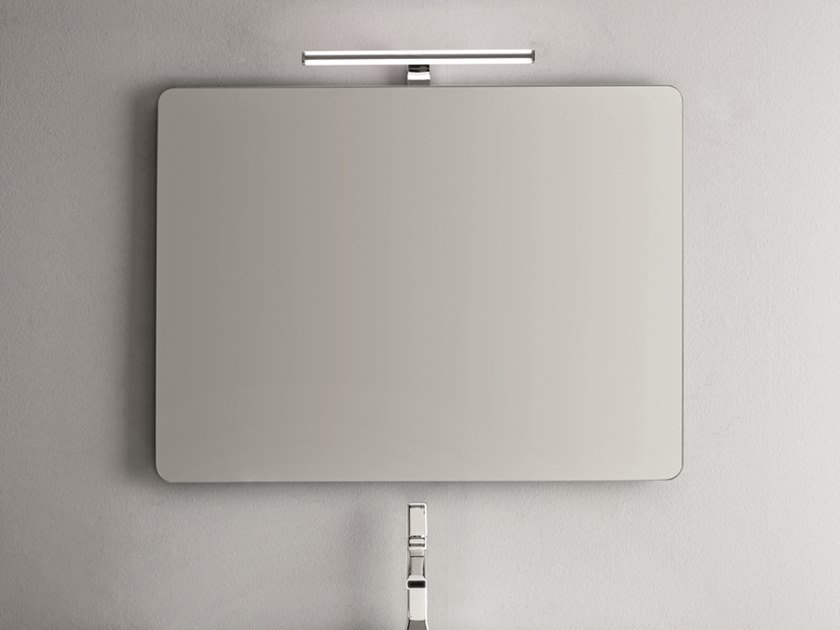 Rectangular wall-mounted mirror with integrated lighting FLUT by ARBLU