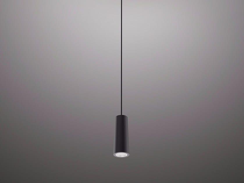 LED direct light aluminium pendant lamp FLUTE MICRO by PURALUCE