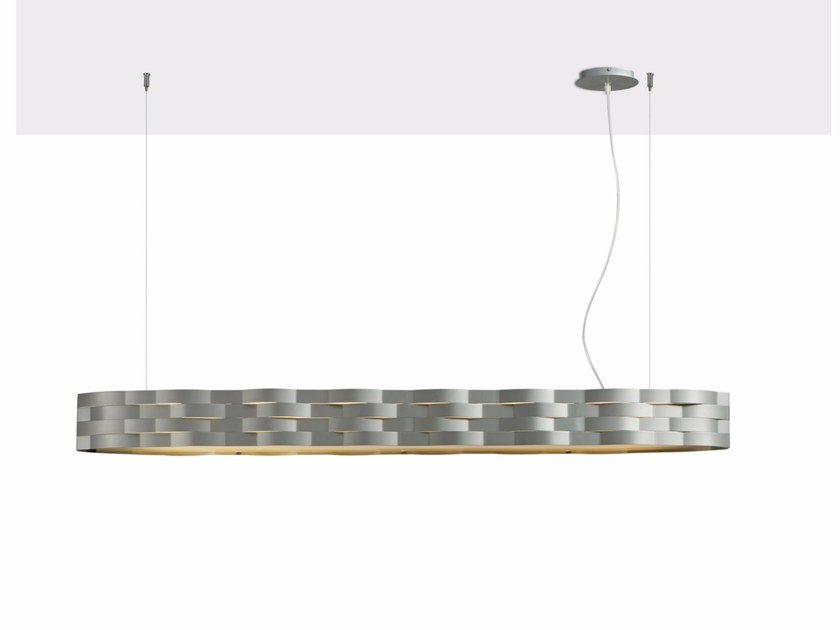 Direct-indirect light powder coated steel pendant lamp FLUTTI | Powder coated steel pendant lamp by Gibas