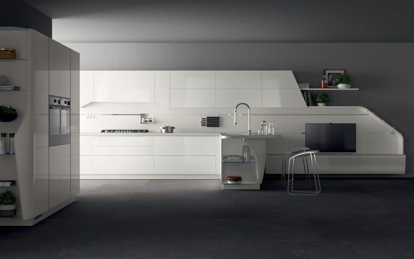 Cucina componibile laccata FLUX SWING - Scavolini
