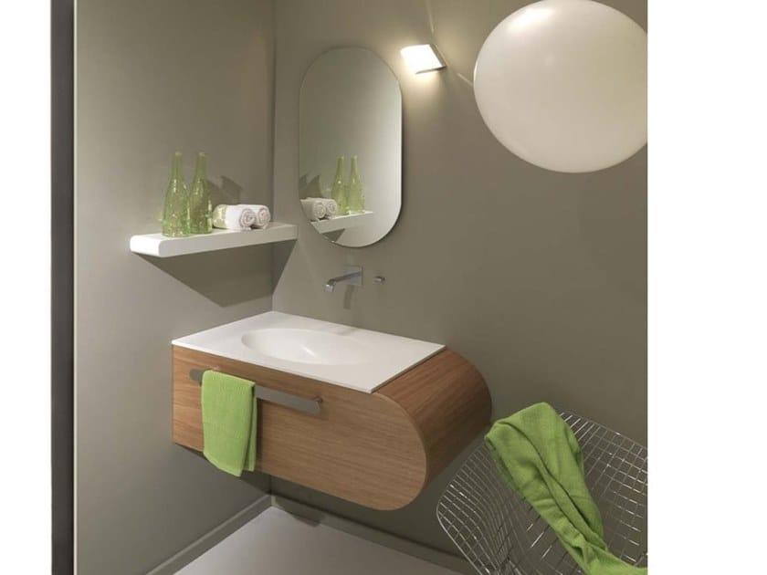 Corner Single Wall Mounted Vanity Unit Flux Us 8 By Lasa Idea Design Enio Calosi