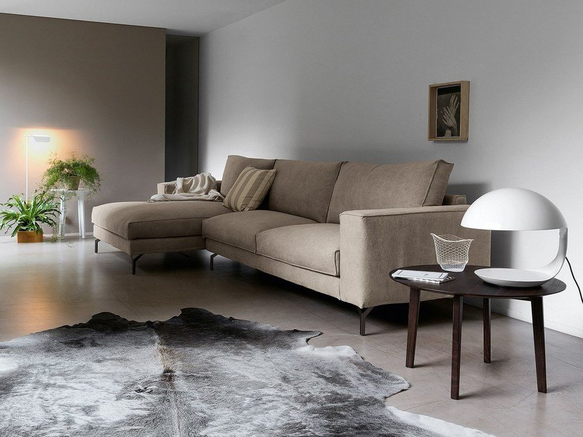 Sectional fabric sofa FLY AIR by Dall'Agnese