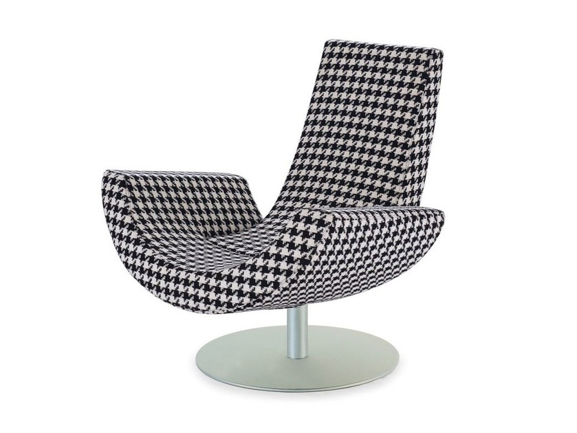 Swivel armchair with armrests FLY by Arketipo