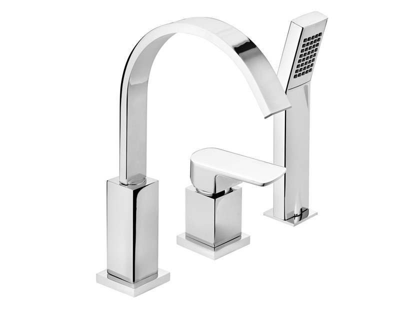 3 hole bathtub set with hand shower FLY   Bathtub set by BIANCHI RUBINETTERIE