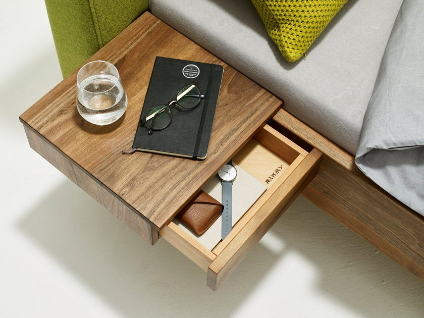 Wooden bedside table with drawers FLY | Bedside table by sixay furniture