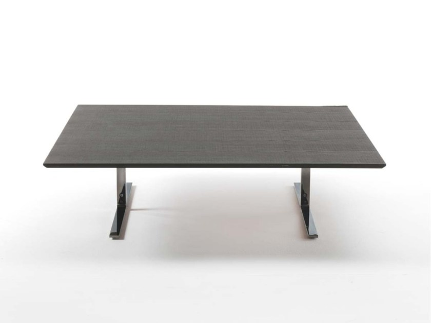 Square wooden coffee table FLY by Frigerio Salotti