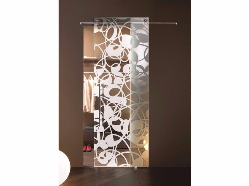 Glass sliding door FLY TRASPARENT by Casali