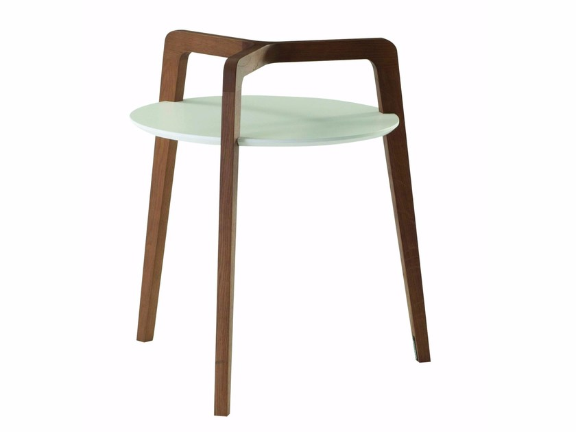 Solid wood side table FLYING GLASS by ROCHE BOBOIS