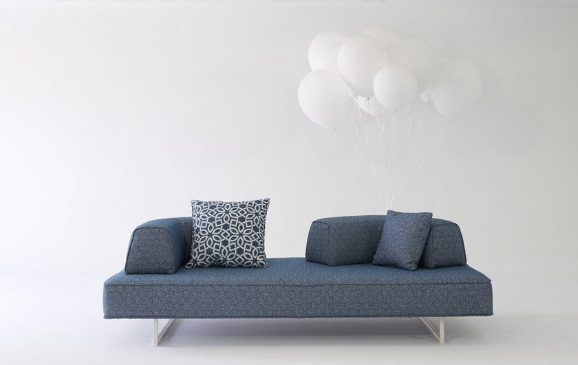 Sled base fabric sofa with removable cover FLYING STAGE | 3 seater sofa by H&Co