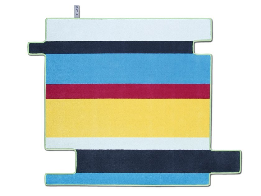 Striped wool rug FLYING STRIPES 001 by FLAT'N