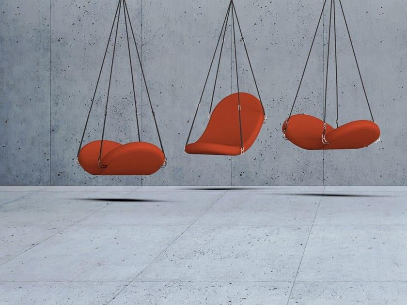 Swing fabric armchair FLYING by Verpan