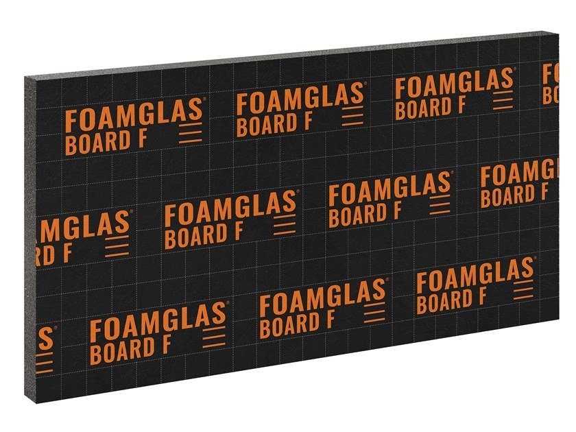 Cellular glass Thermal insulation panel FOAMGLAS® BOARD F by FOAMGLAS