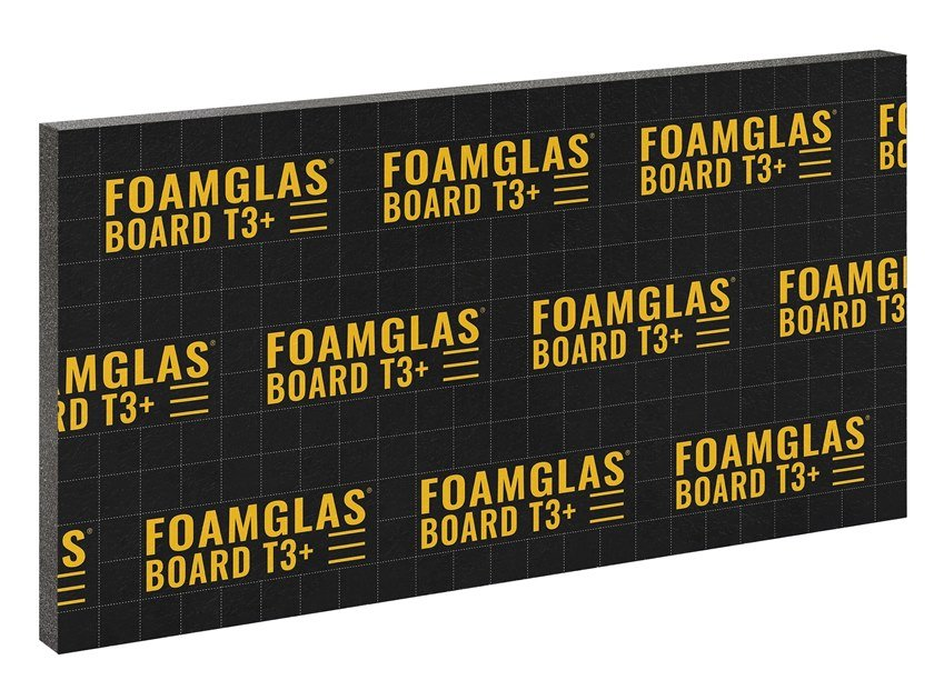 Cellular glass Thermal insulation panel FOAMGLAS® BOARD T3+ by FOAMGLAS