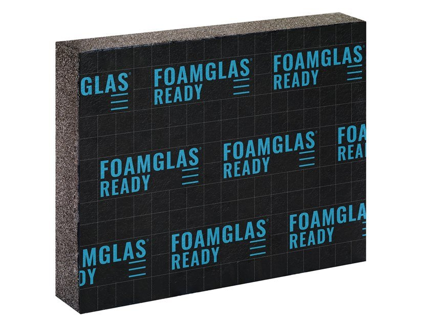 Cellular glass Thermal insulation panel FOAMGLAS® READY T3+ by FOAMGLAS