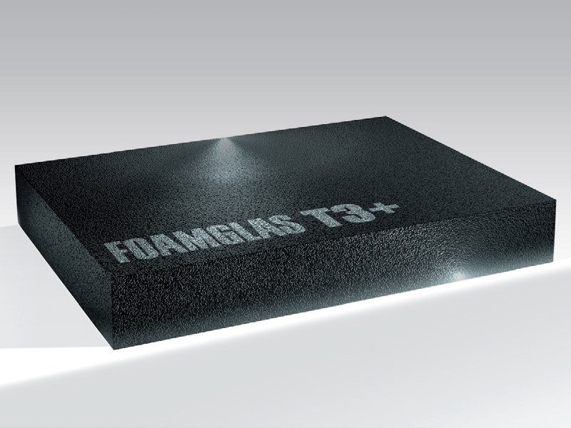 Cellular glass Thermal insulation panel FOAMGLAS® T3+ by FOAMGLAS