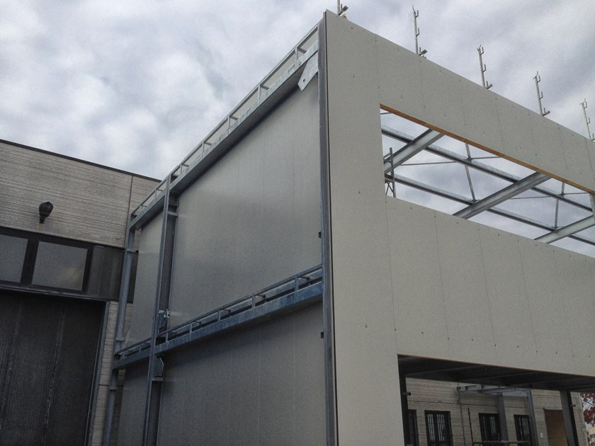 Insulated metal panel for facade FOAMWALL A2 by RW Panel