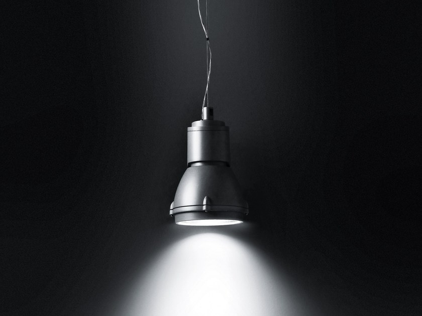 Metal halide fluorescent aluminium pendant lamp FOCUS SOSPENSIONE by SIMES