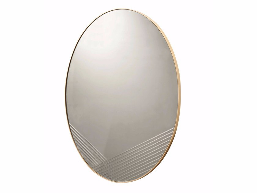 Contemporary style wall-mounted oval mirror FOCUSED by ROCHE BOBOIS