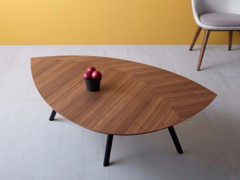 Tavolino in legno da salotto FOGLIA | Tavolino da salotto ...