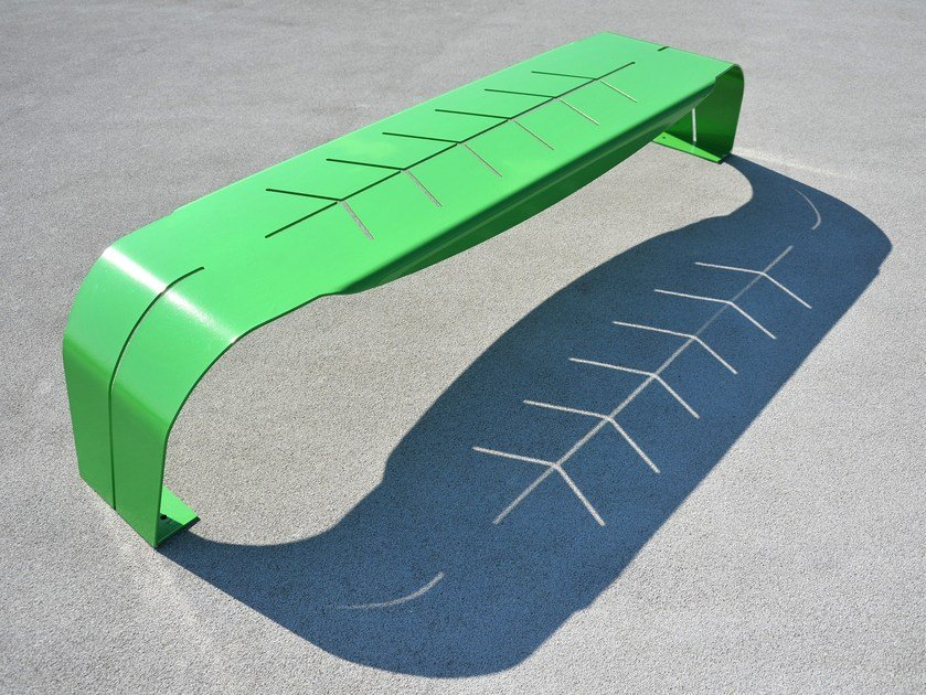 Steel Bench FOGLIA by LAB23 - Urban Smart Living
