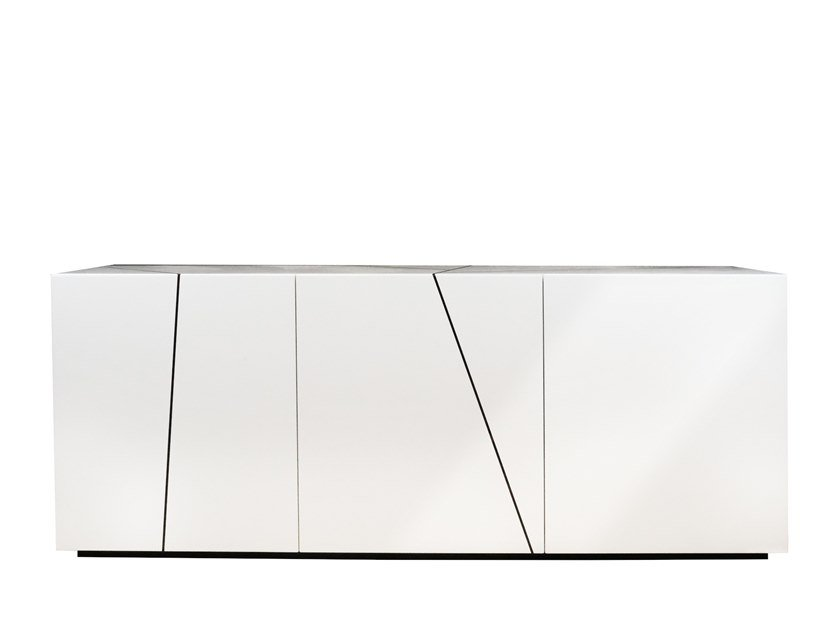 Lacquered wooden sideboard with doors FOGLIA | Sideboard by Garbarino
