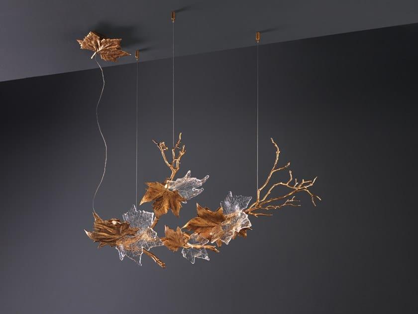 LED pendant lamp FOGLIO CHANDELIER by Serip