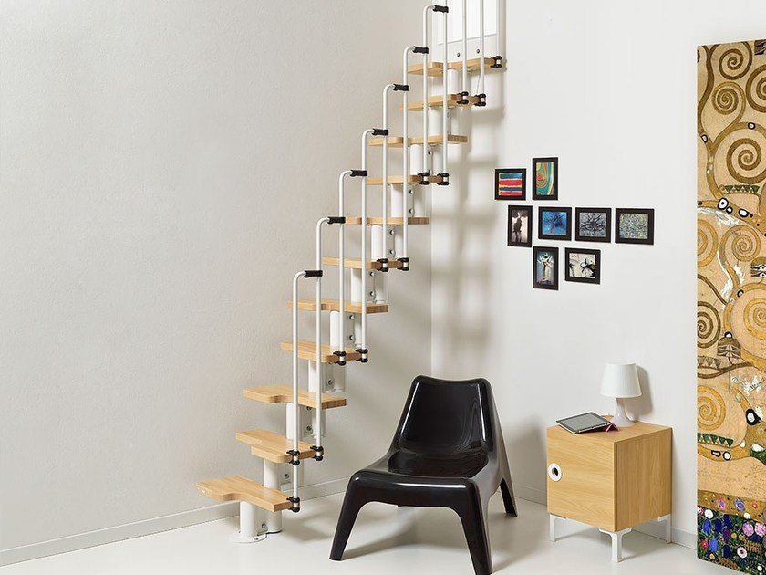 Steel And Wood Mini Staircase FOKUS By Fontanot