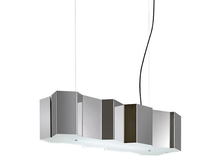 Fluorescent stainless steel pendant lamp FOLD | Pendant lamp by Pallucco
