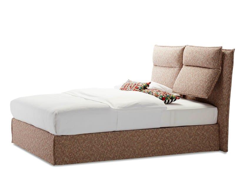 Schramm Boxspring fabric bed fold by schramm design sebastian herkner