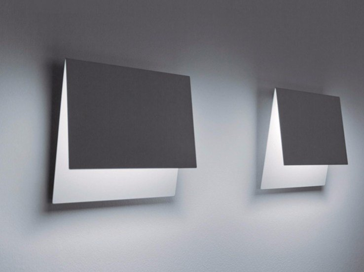 LED metal wall lamp FOLDER by DAVIDE GROPPI