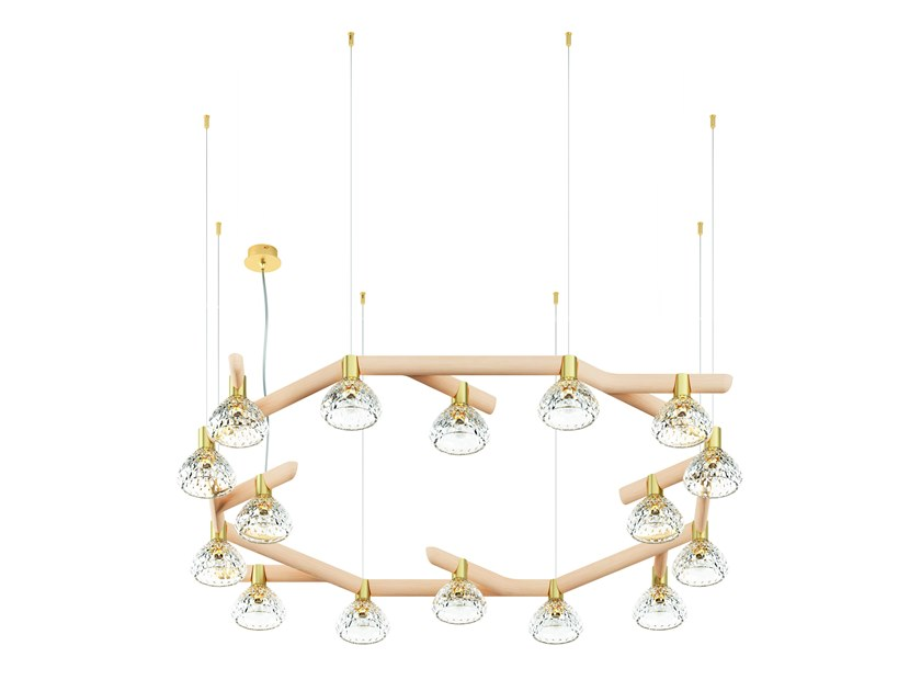 E Diretta In Vetro A Luce Saint 16 Folia louis Legno Lampada Sospensione Lights lKF3JTc1