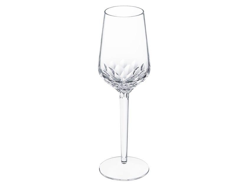 Crystal champagne glass FOLIA | Champagne glass by Saint-Louis