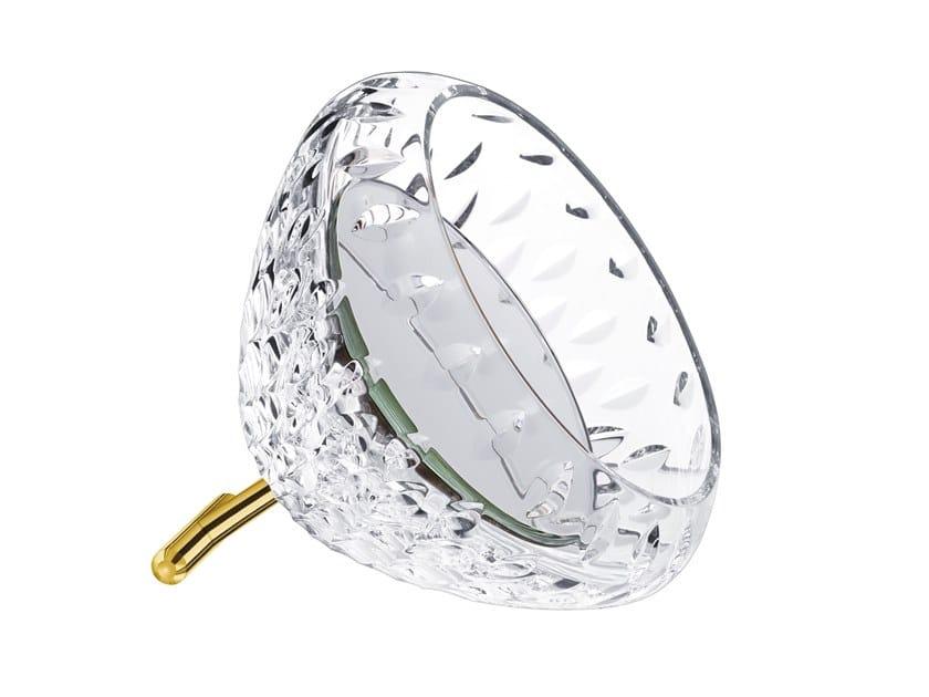 Specchio da appoggio rotondo in cristallo in stile moderno con cornice FOLIA | Specchio by Saint-Louis
