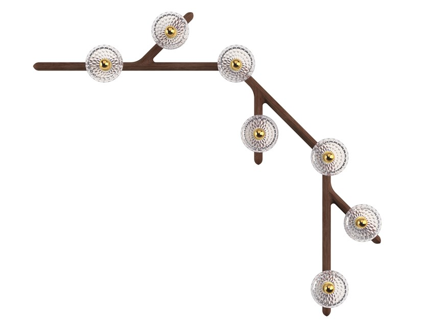 Crystal wall lamp / ceiling lamp FOLIA 7 LIGHTS - 45° by Saint-Louis