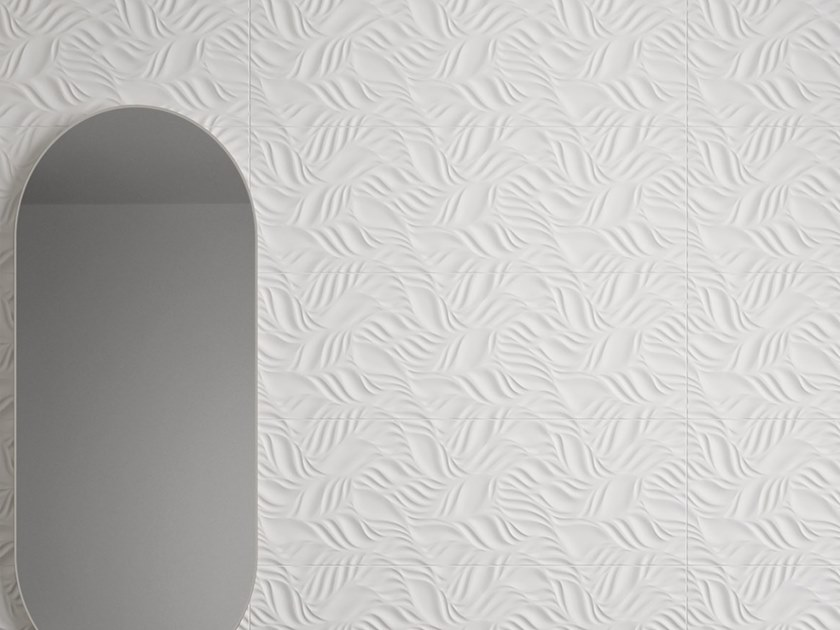 White-paste 3D Wall Cladding FORME BIANCHE FOLIAGE by Impronta Ceramiche