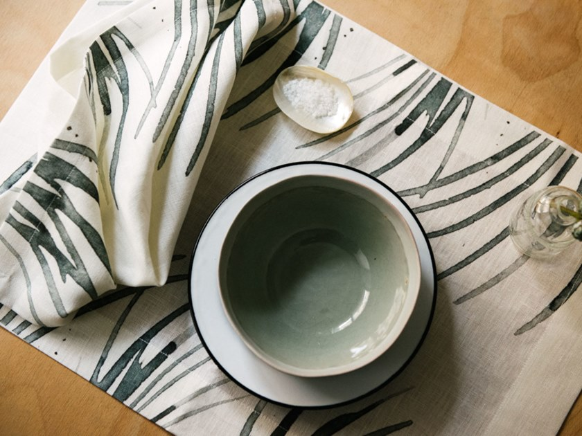 Breakfast set (6 placemats + 6 napkins) FOLIUM | Placemat by The NapKing