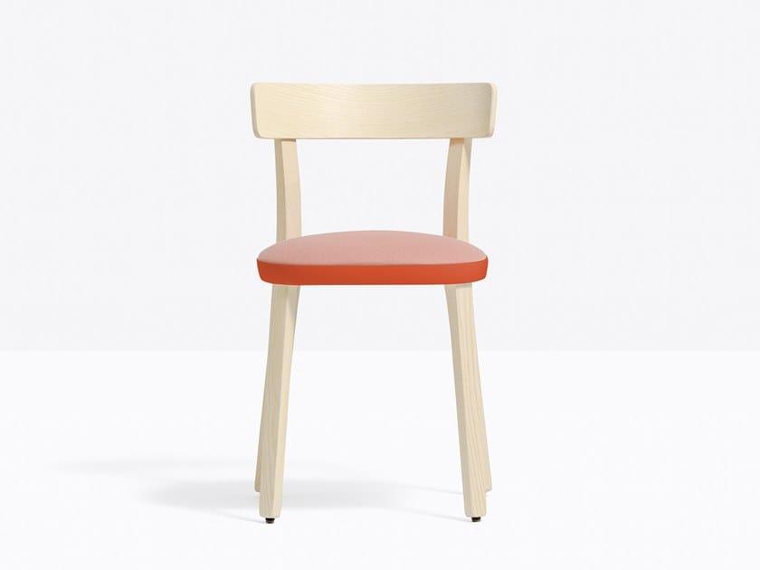 Sedia in frassino con cuscino integrato FOLK 2940 by PEDRALI