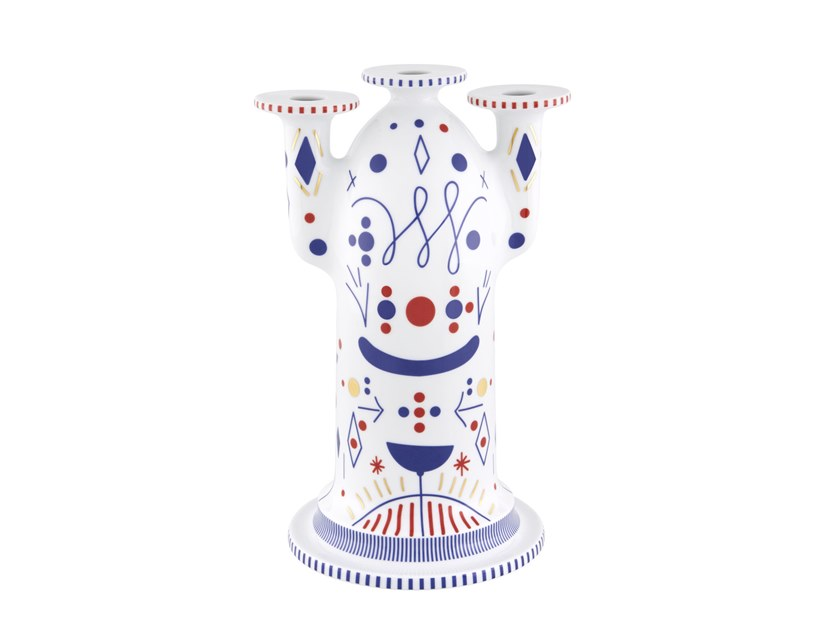 Porcelain candlestick FOLKIFUNKI | Candlestick by Vista Alegre