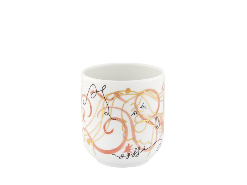 Porcelain candle holder FOLKIFUNKI | Porcelain candle holder by Vista Alegre
