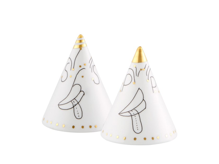 Porcelain salt and pepper shaker FOLKIFUNKI   Salt and pepper shaker by Vista Alegre