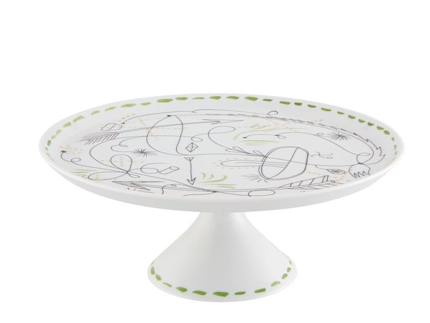 Round porcelain tray FOLKIFUNKI | Tray by Vista Alegre